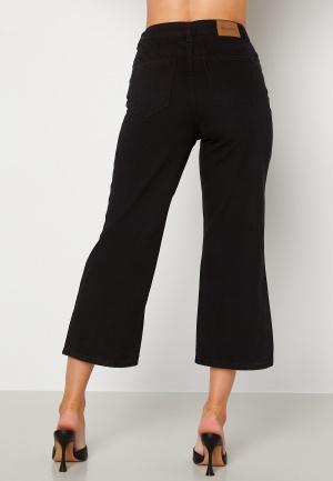 Happy Holly Pamela wide leg culotte jeans Black 36