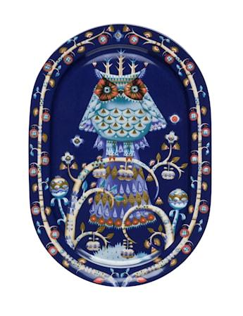 Taika Serveringsfat 41 cm blå