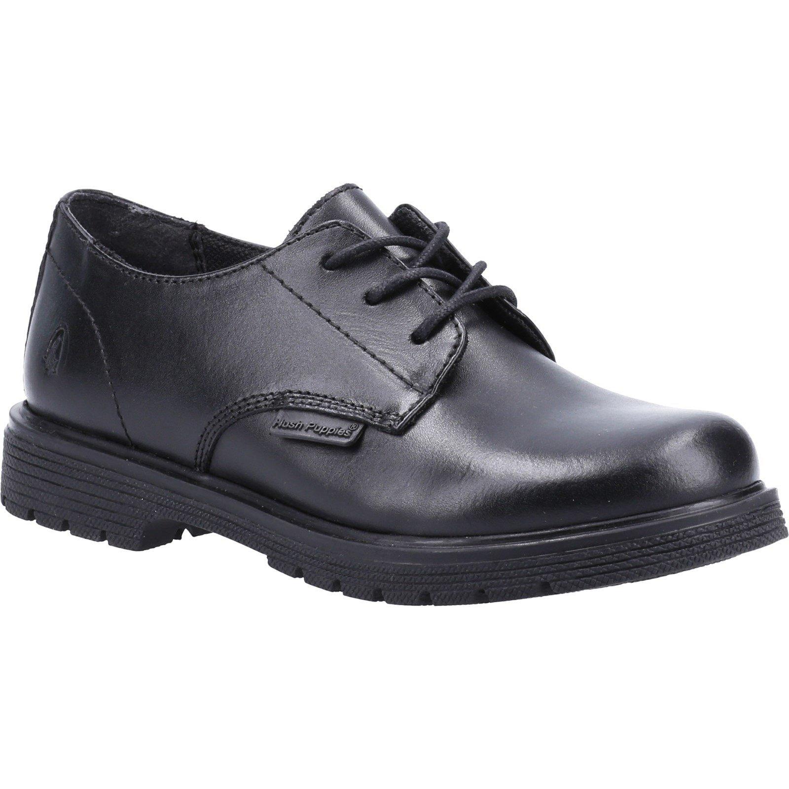 Hush Puppies Kid's Remi Senior School Derby Shoe Black 32613 - Black 6
