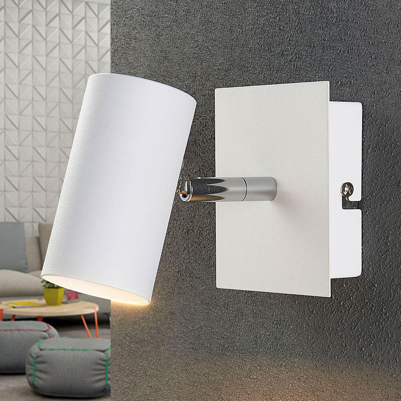 Valkoinen LED-kohdevalo Iluk, seinä ja katto