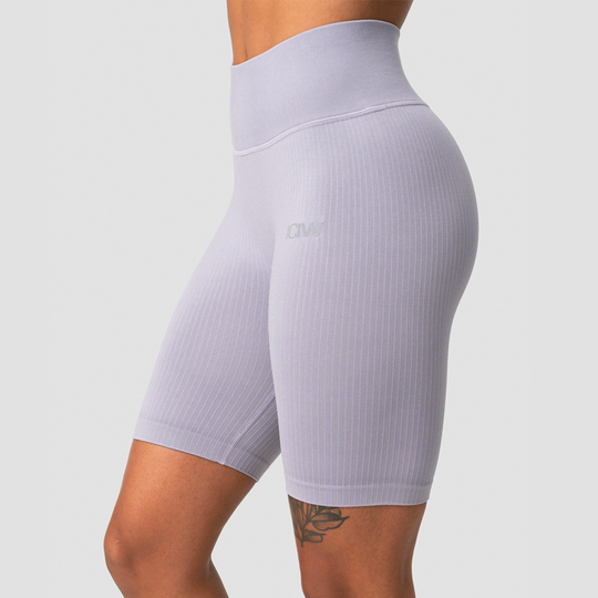 Ribbed Define Seamless Biker Shorts, Cloudy Violet