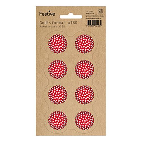Knäckformar Röda - 160-pack