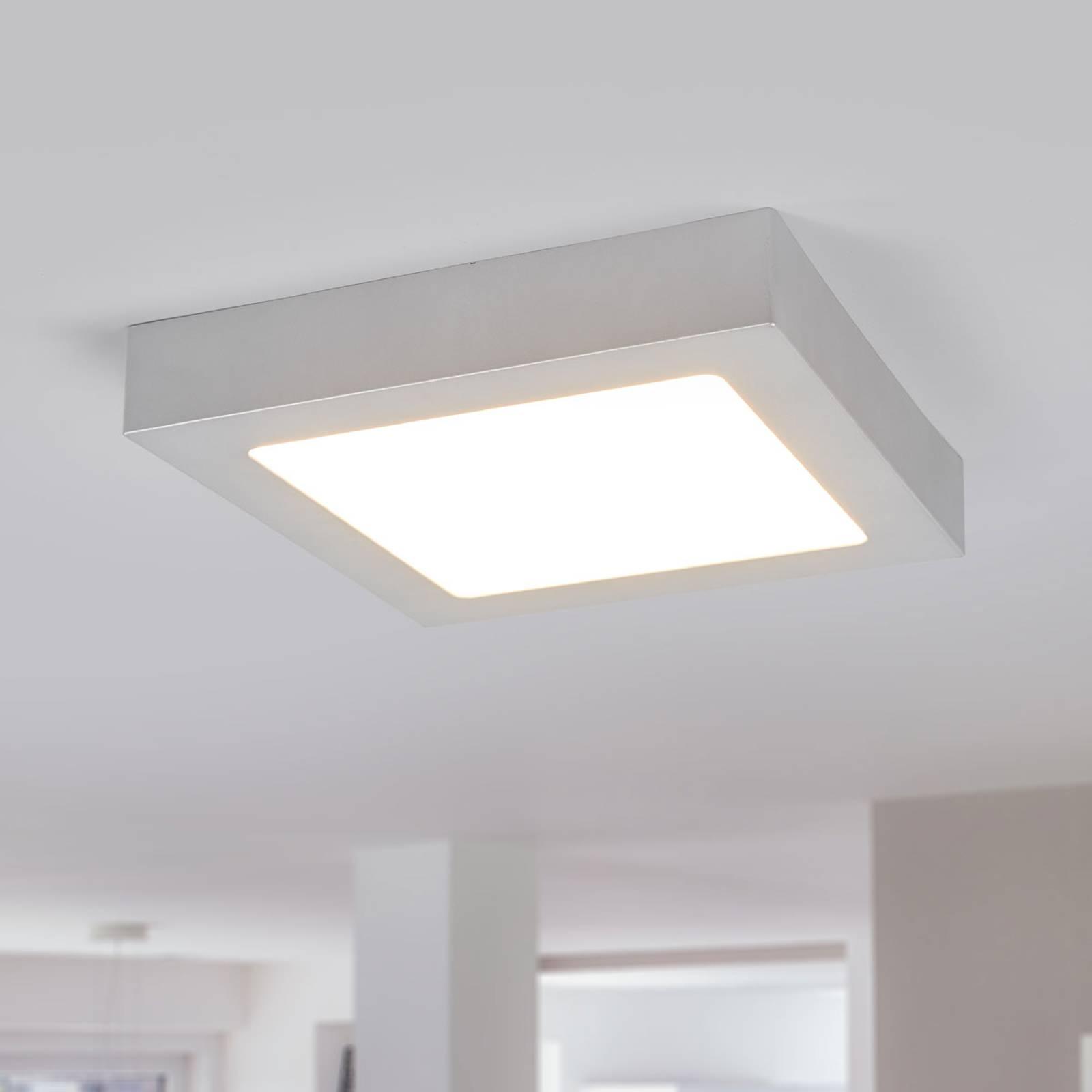 LED-kattovalo Marlo hopea 3 000 K kulmikas 23,1 cm