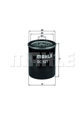 Öljynsuodatin MAHLE ORIGINAL OC 521