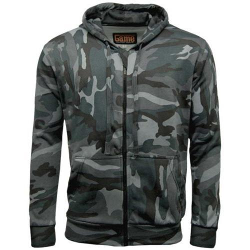 Game Technical Apparel Unisex Hoodie Various Colours Camo Zipper - Midnight S