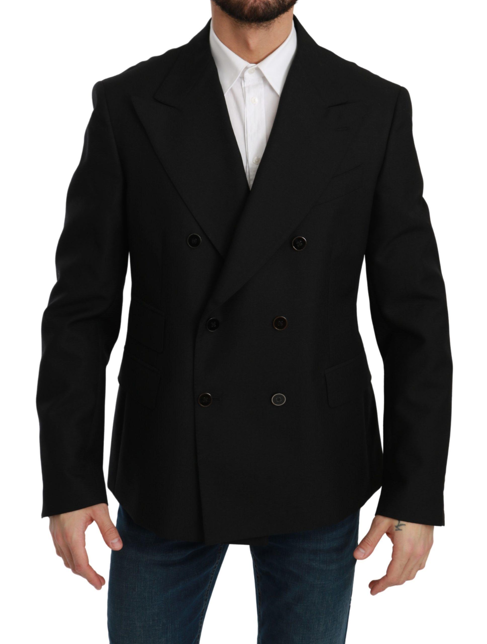Dolce & Gabbana Men's Slim Fit Wool Blazer Black KOS1767 - IT52 | L