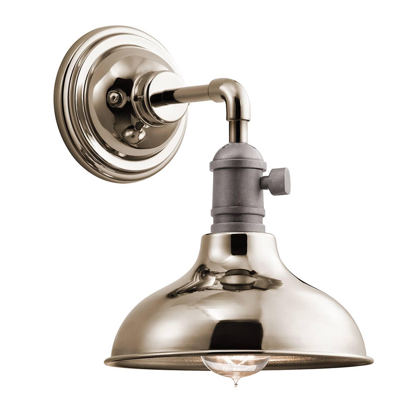 Vegglampe Cobson 1, polert nikkel