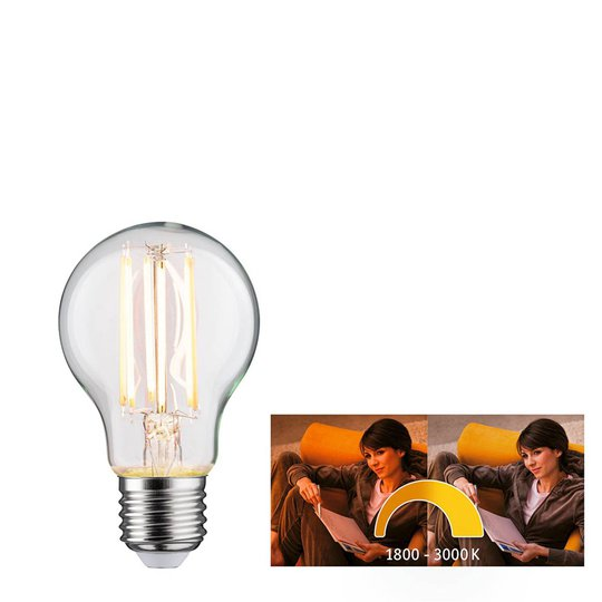 Paulmann-LED-lamppu E27 7W dim to warm
