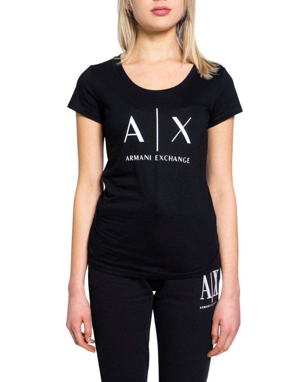 Armani Exchange Women's T-Shirt Various Colours 190515 - black XS