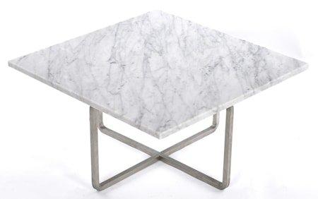 Ninety sofabord - Carrara/stomme rustfritt stål