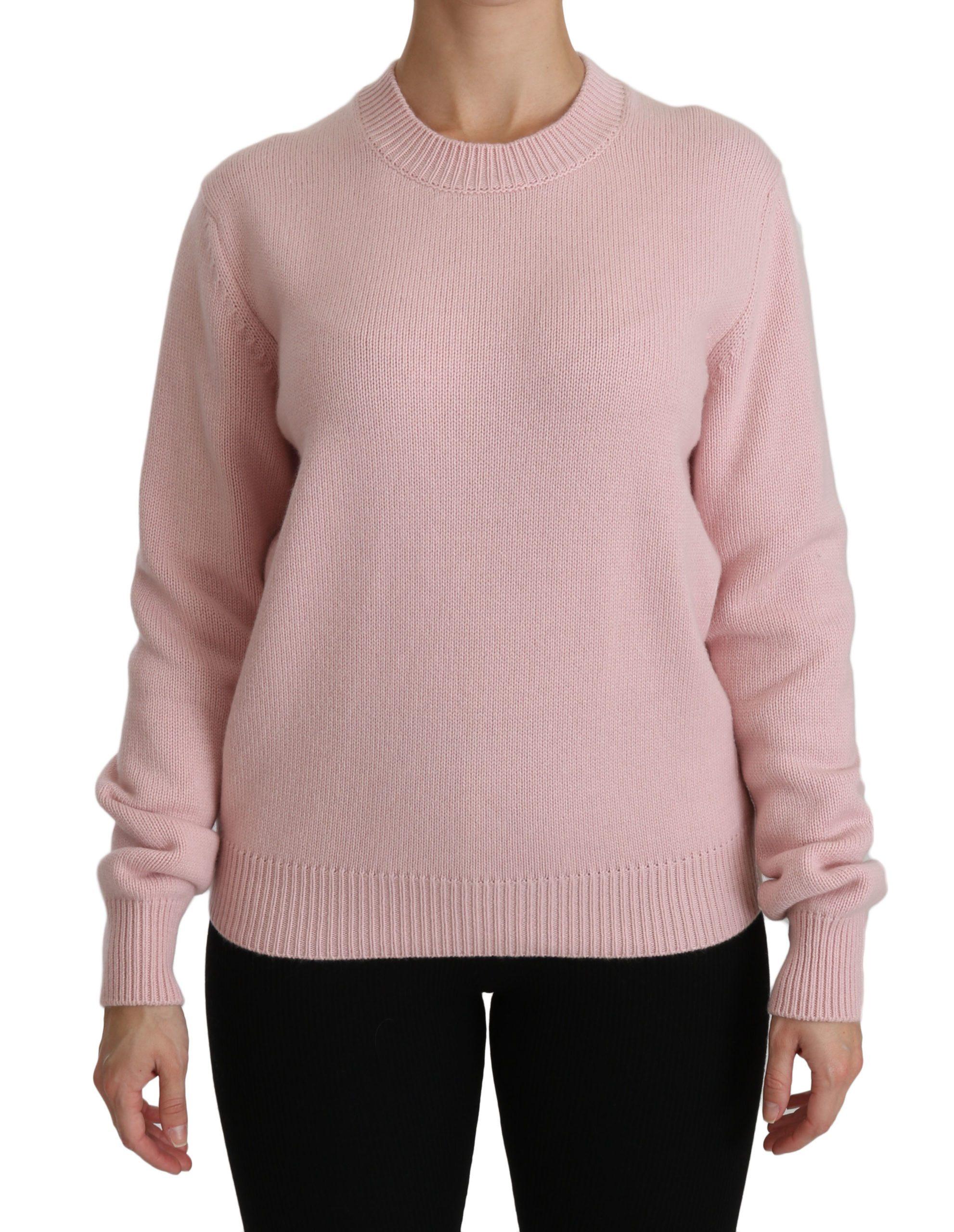 Dolce & Gabbana Women's Crew Neck Cashmere Pullover Sweater Pink TSH4236 - IT40|S