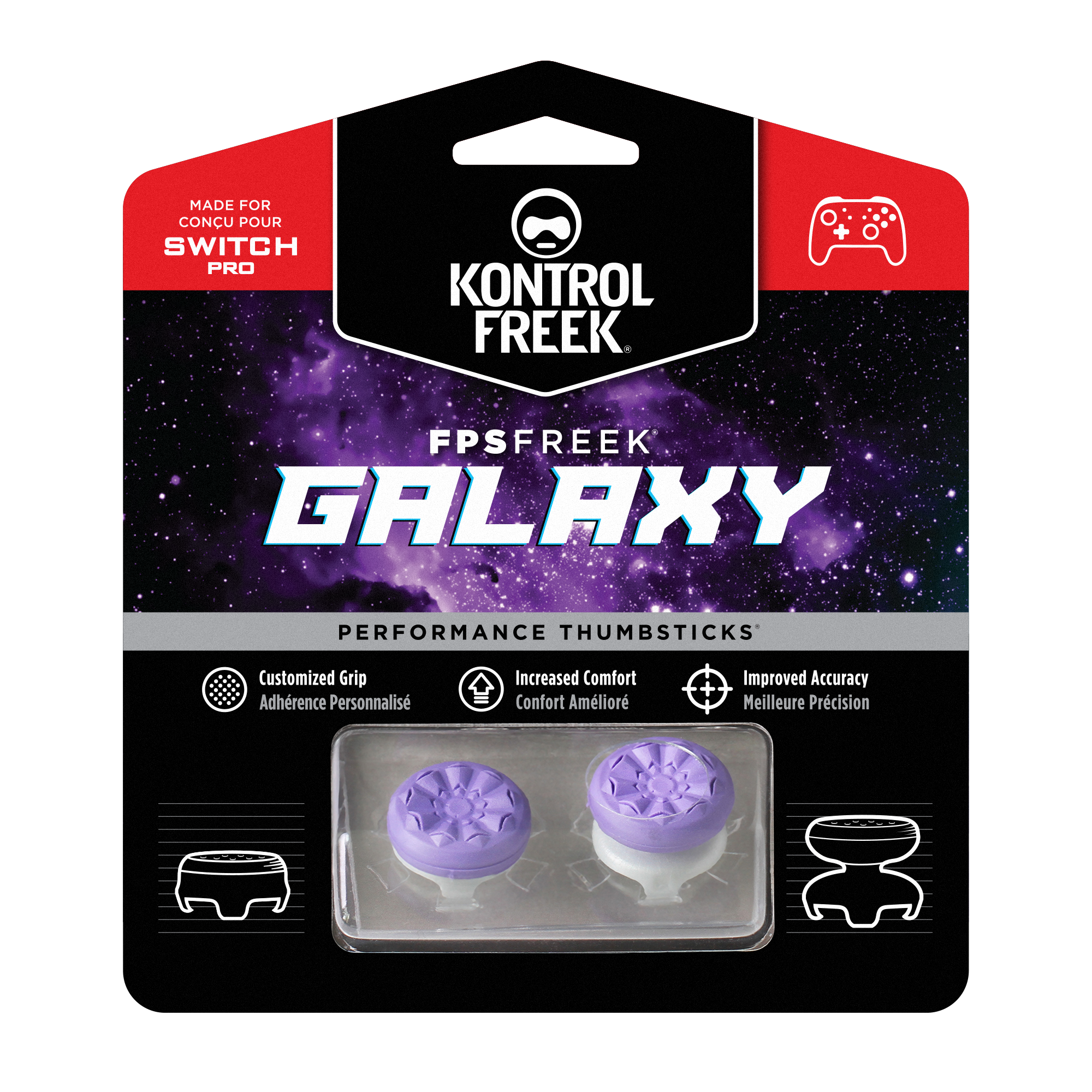 KontrolFreek Nintendo Switch Pro FPS Galaxy Inferno
