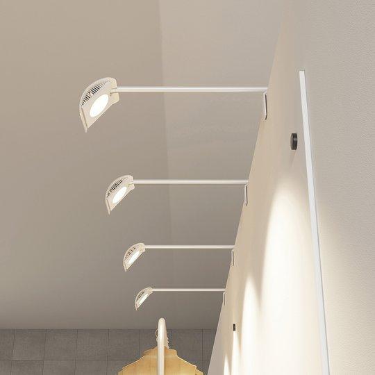 Arcchio Macey -LED-display-valaisin, valkoinen