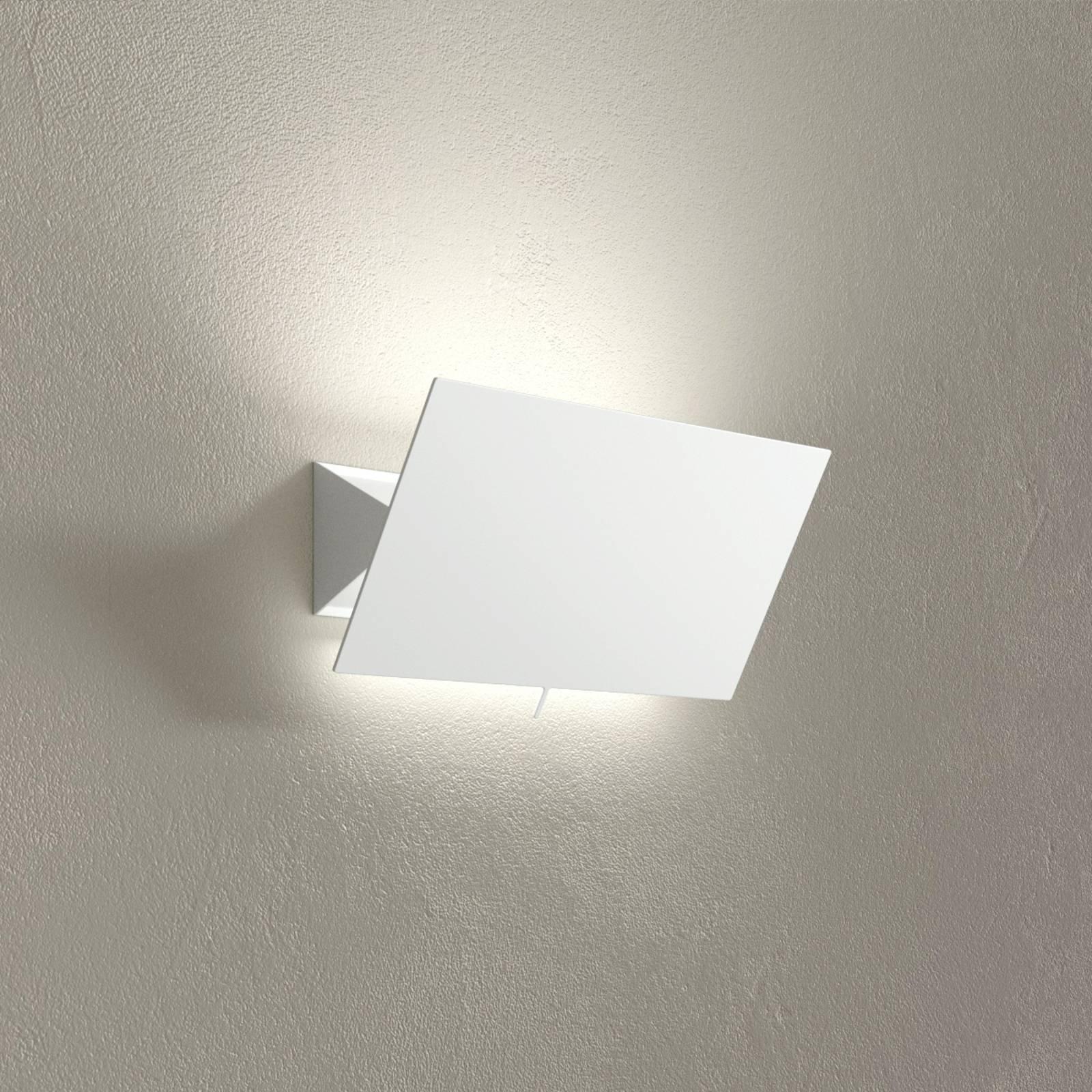 LED-vegglampe Shadow Piccola, hvit, bredde 33 cm