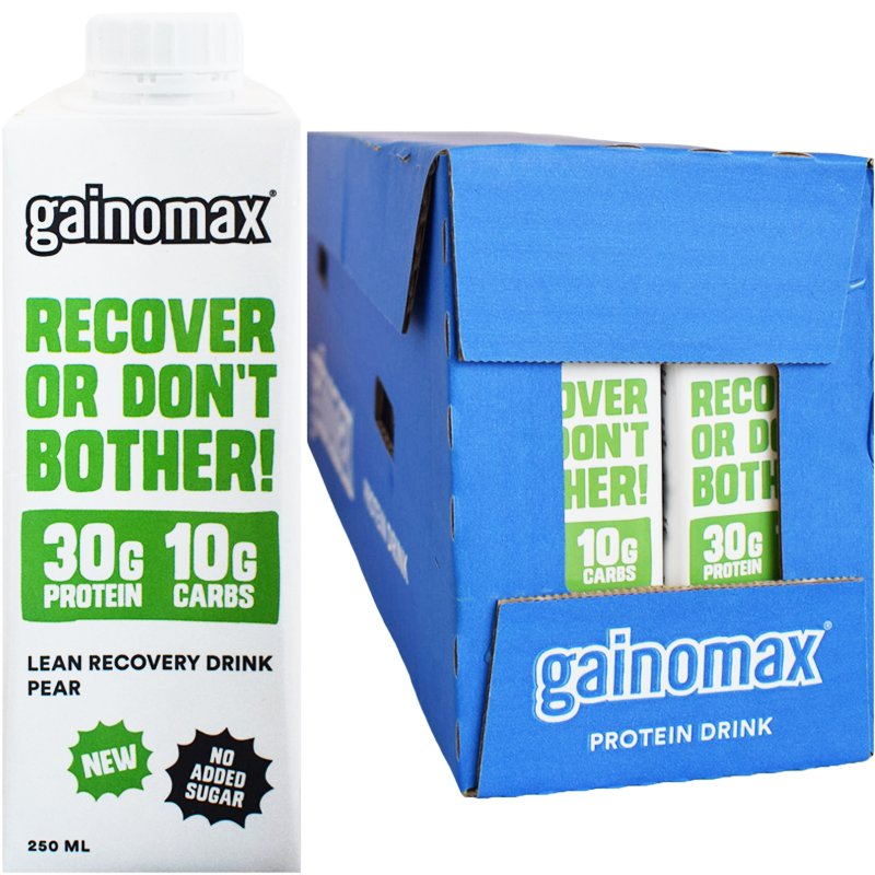"Laatikollinen Proteiinijuomia ""Recovery Pear"" 16 x 250ml - 27% alennus"