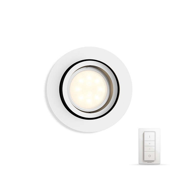 Philips Hue - Milliskin Recessed Spot Light Remote Included White - White Ambiance - E