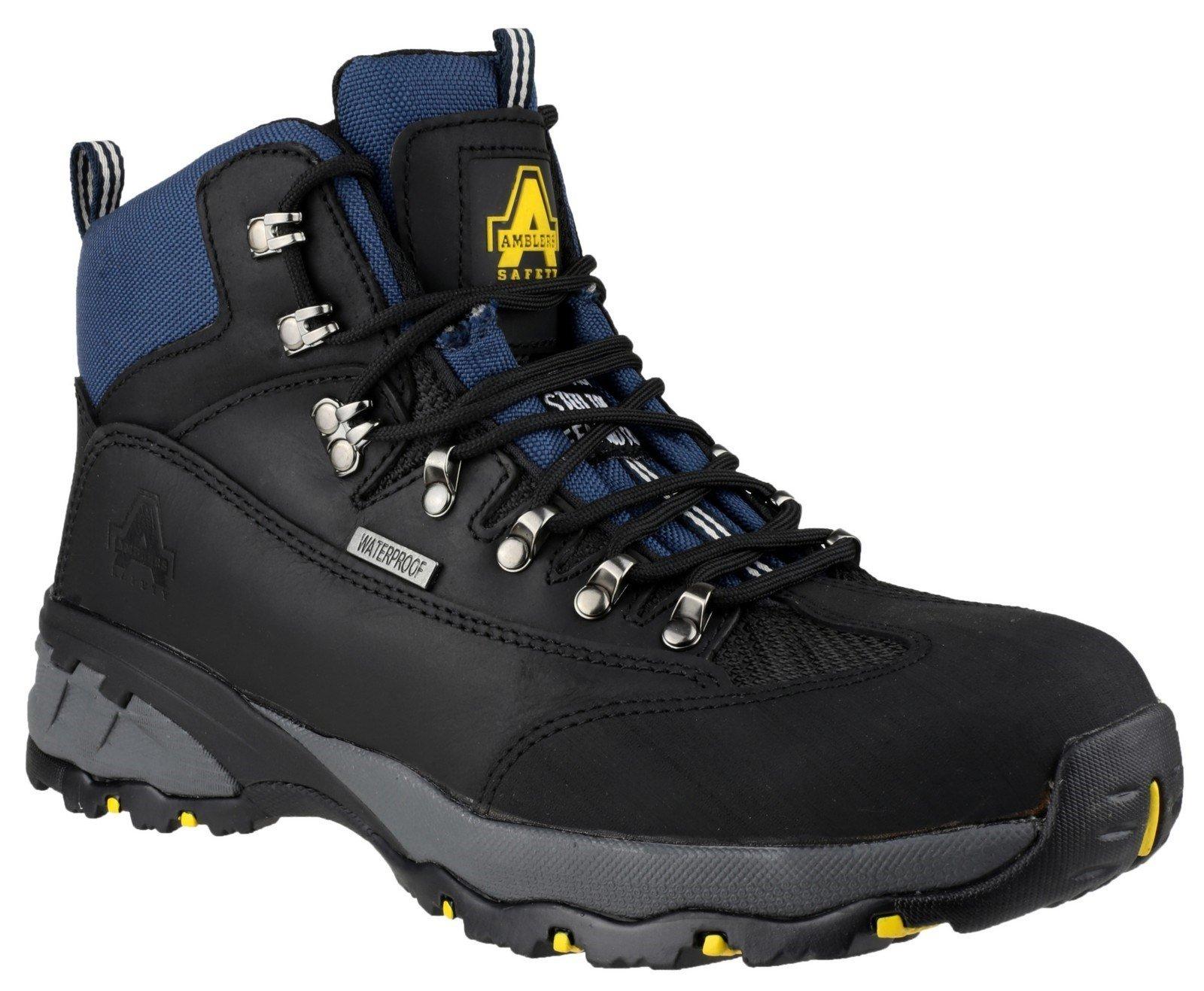 Amblers Unisex Safety Waterproof Lace up Hiker Boot Black 09635 - Black 6