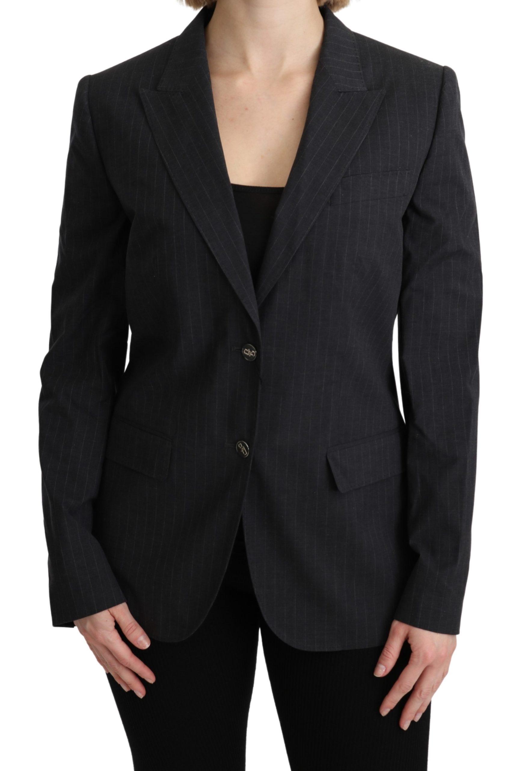 Dolce & Gabbana Women's Single Breasted Blazer Jacket Gray KOS1795 - IT44 L