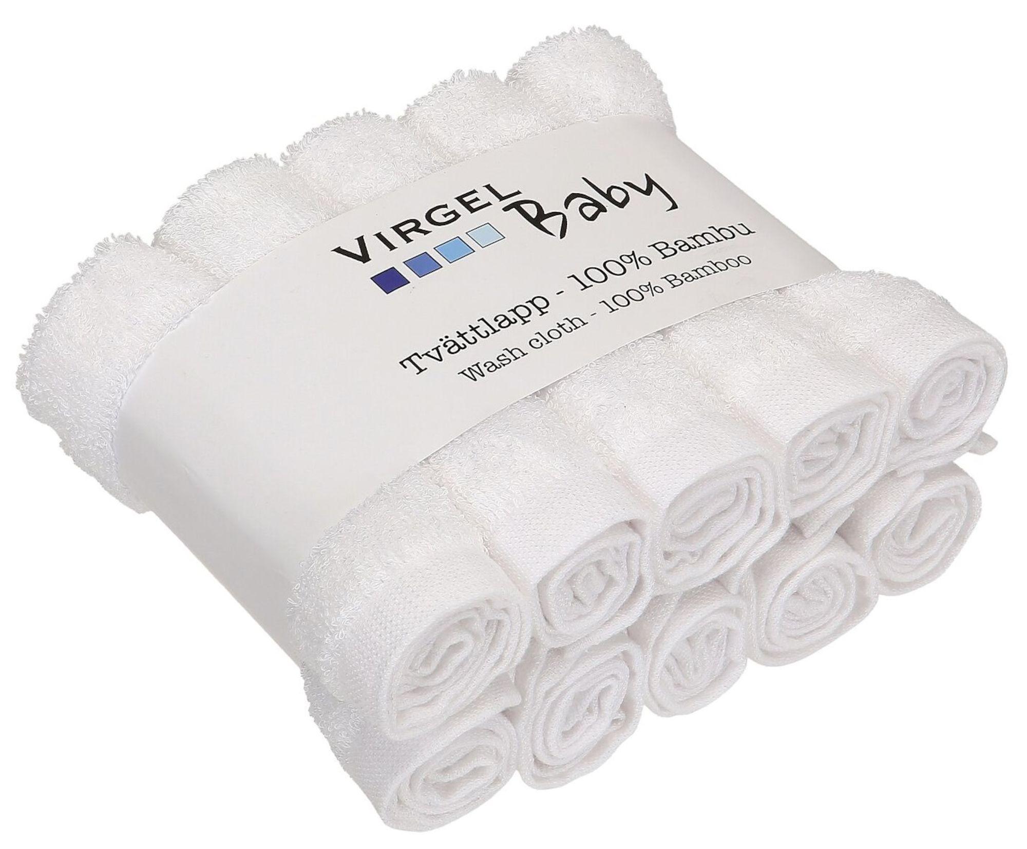 Virgel Tvättlapp Bambu 10-pack, Vit