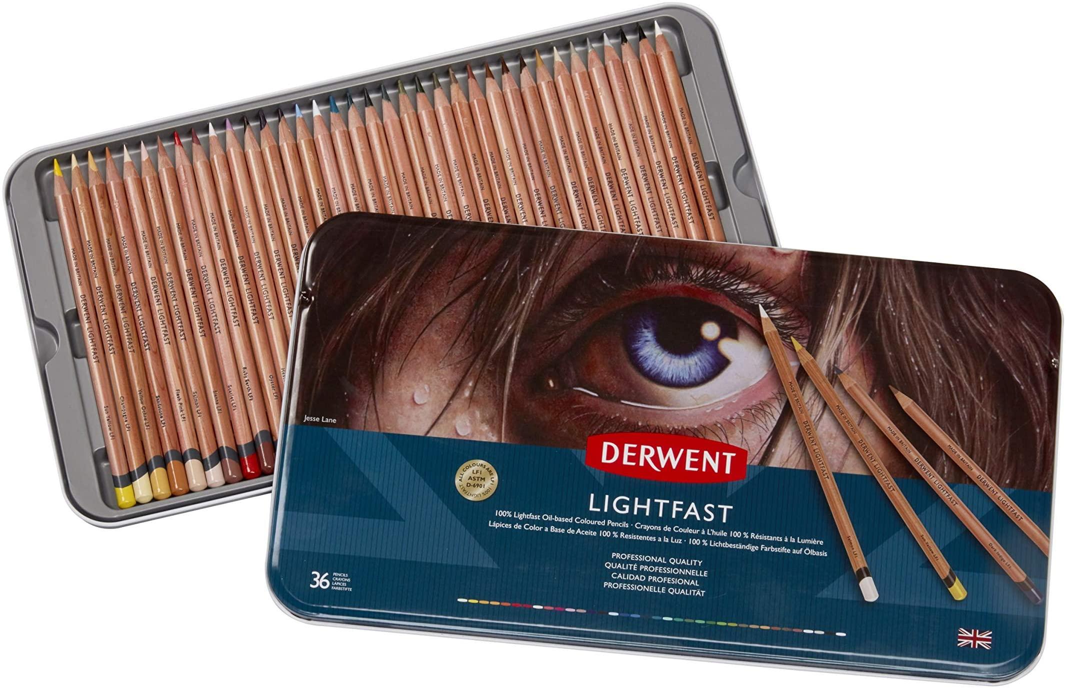 Derwent - Lightfast Pencils, 36 Tin