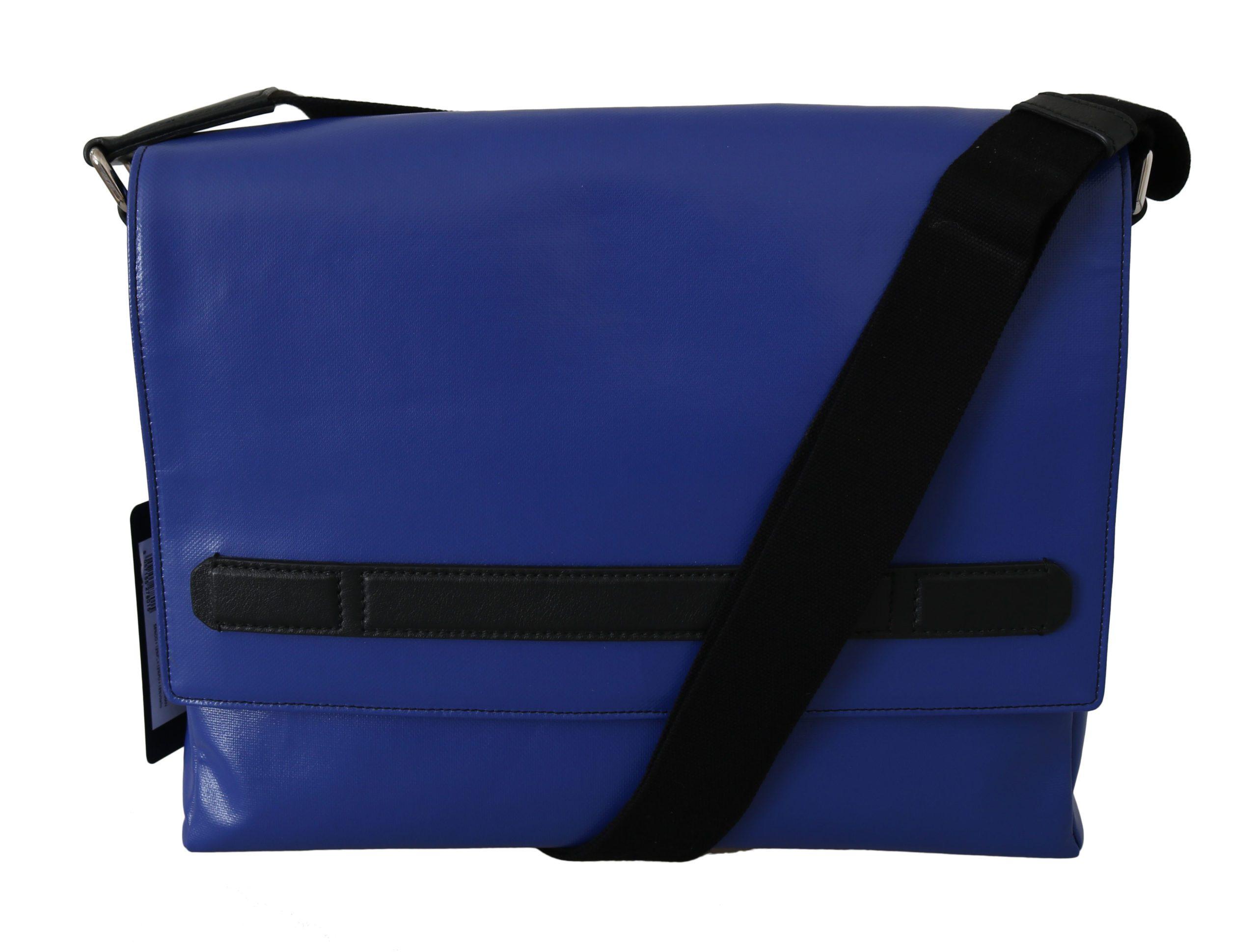 Dolce & Gabbana Men's Shoulder Cotton Sling Messenger Bag Blue VAS8776