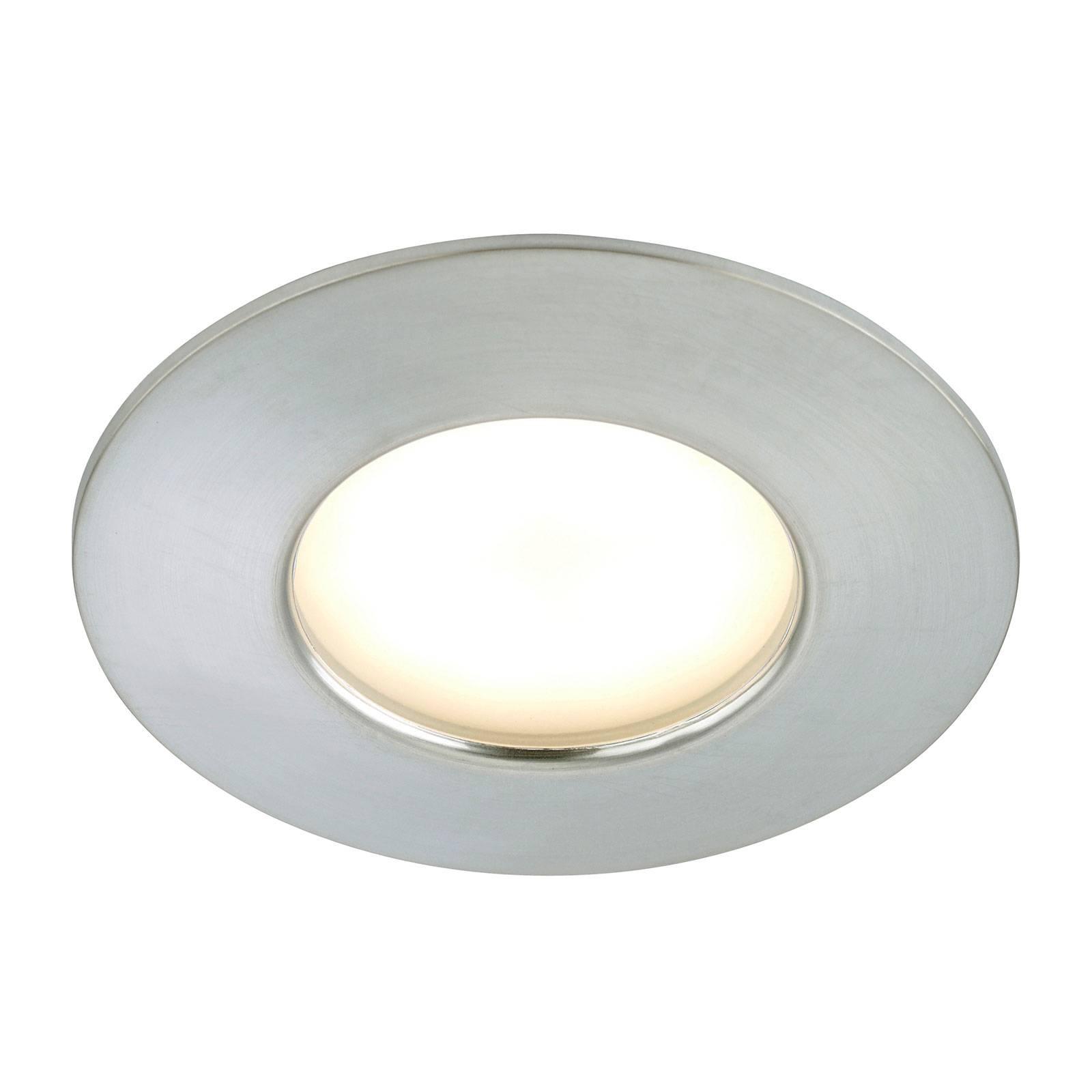 Alumiininvärinen Felia-LED-uppovalaisin, IP44