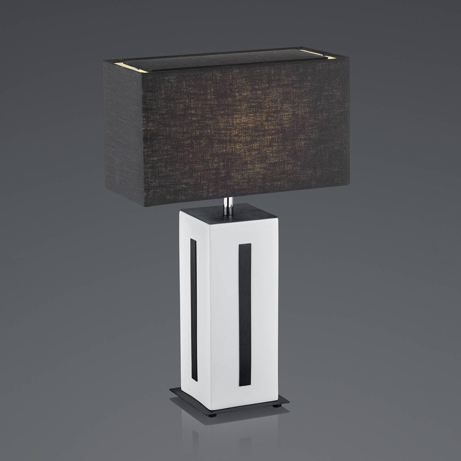 BANKAMP Karlo pöytävalaisin valkoinen/musta, 56cm