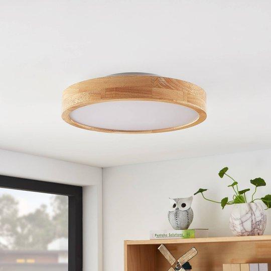 Lindby Milada LED-taklampe, eiketre