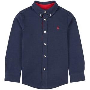 Ralph Lauren Logo Jersey Skjorta Marinblå 4 år