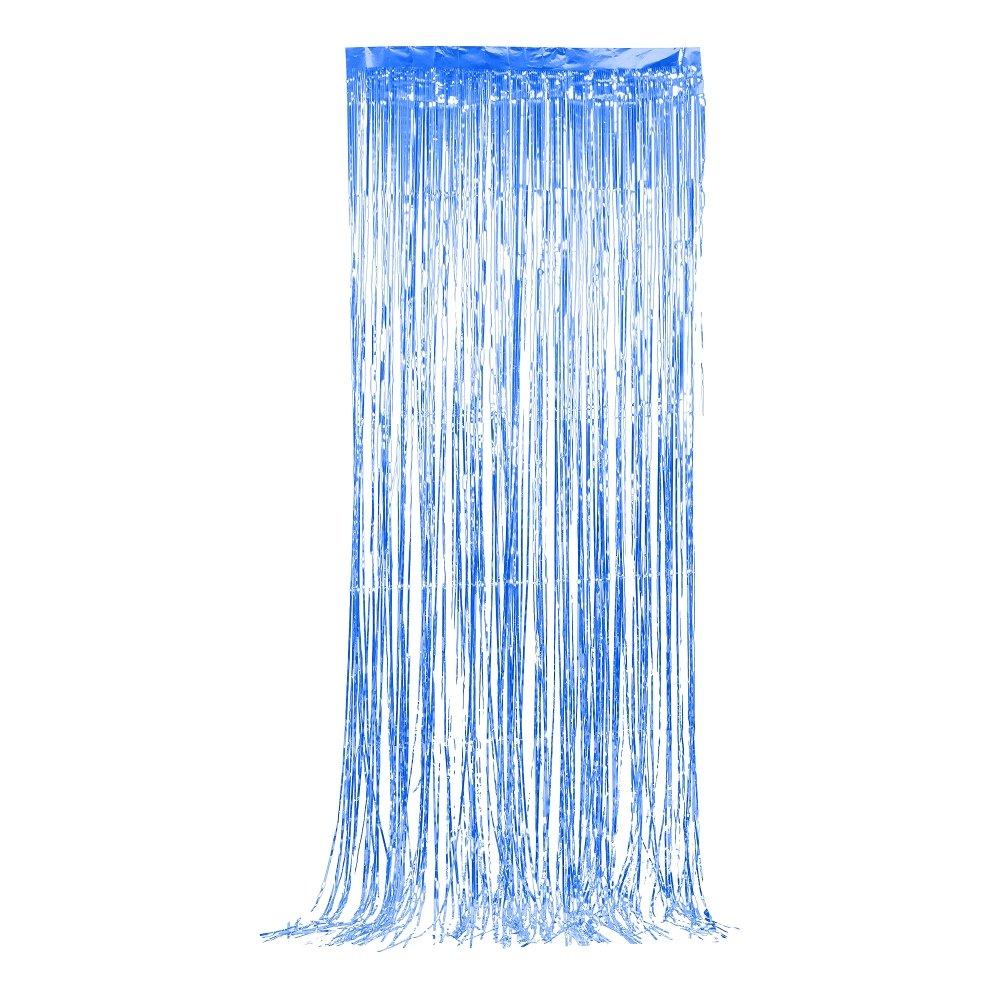 Glitterdraperi - Blå