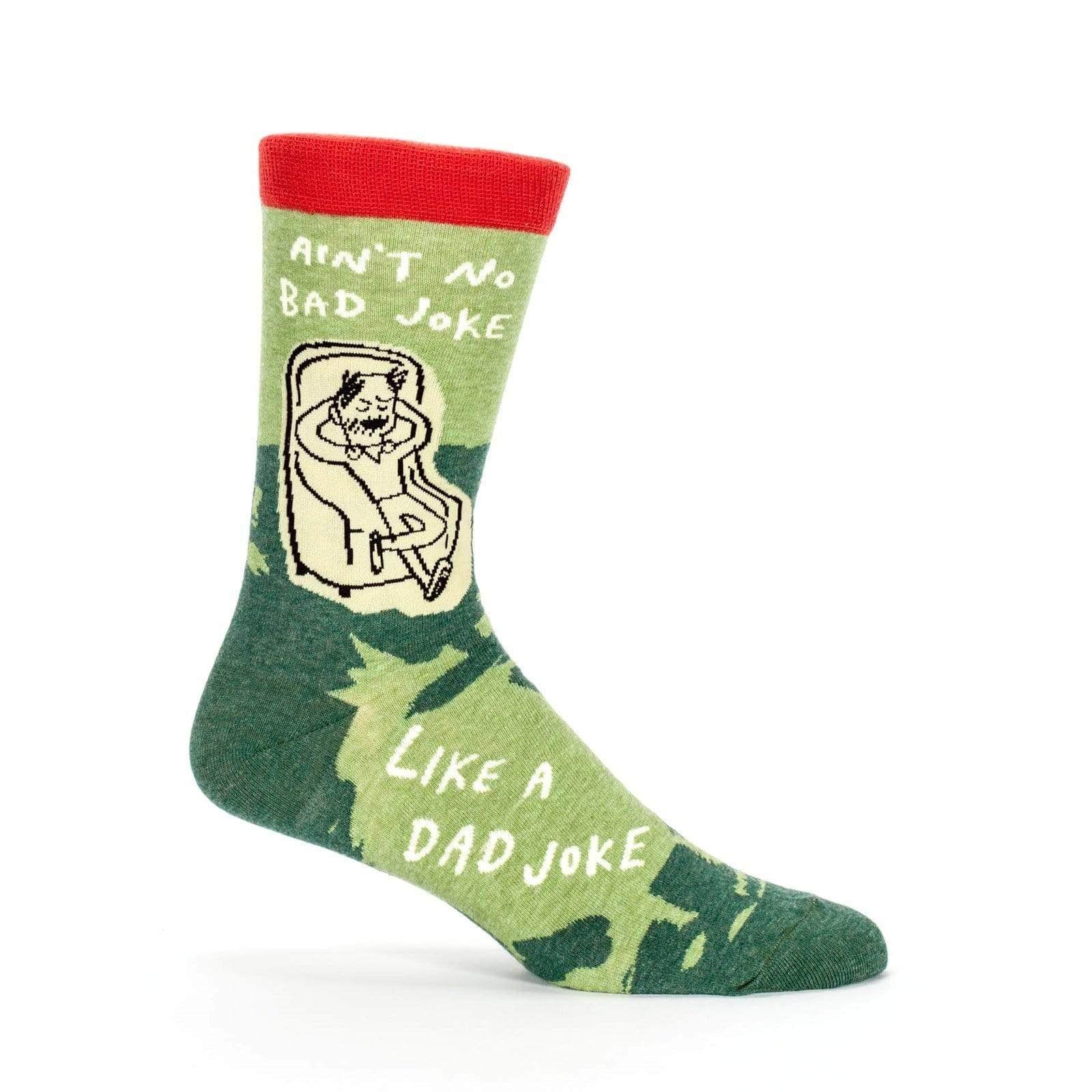 Ain't No Bad Joke Like A Dad Joke Mens Crew Socks