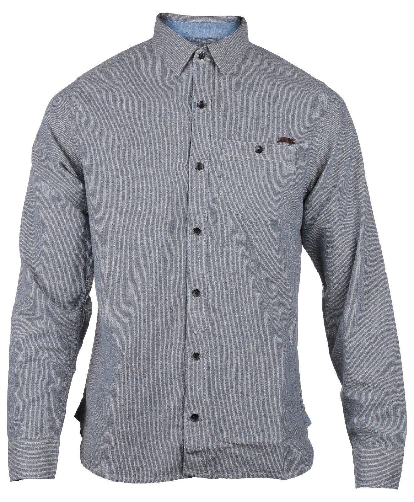 CAT Lifestyle Men's Radford LS Shirt Various Colours 24139 - Stripe Sml