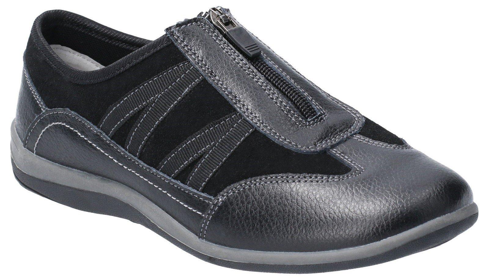 Fleet & Foster Women's Mombassa Leather Trainer Various Colours 29306-49610 - Black 3