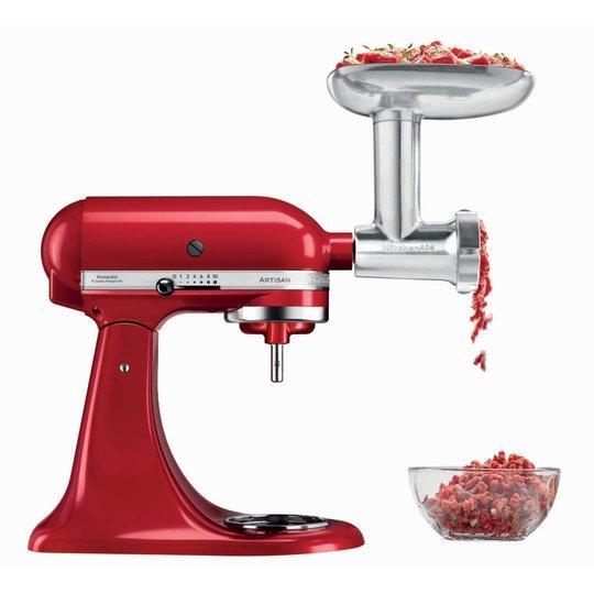 KitchenAid Artisan KSM125PSEER Röd + Köttkvarn Metall
