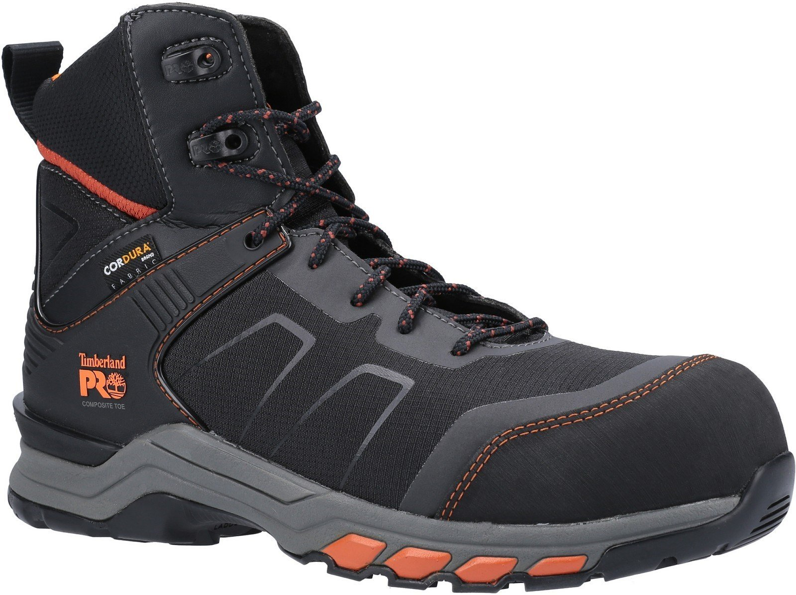 Timberland Pro Men's Hypercharge Safety Work Boot Various Colours 30947 - Black/Orange 6