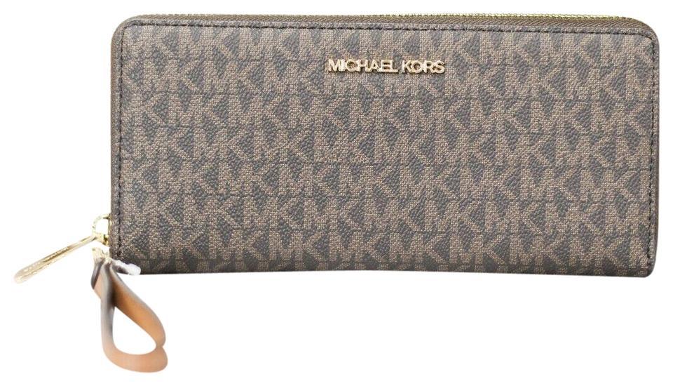 Michael Kors Women's Jet Set Clutch Bag Brown 38613