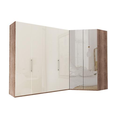 Garderobe Atlanta - Mørk rustikk eik 200 cm, 236 cm, Walk-in
