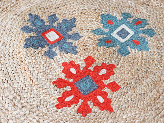 Small Handwoven Natural Rug 100cm Small