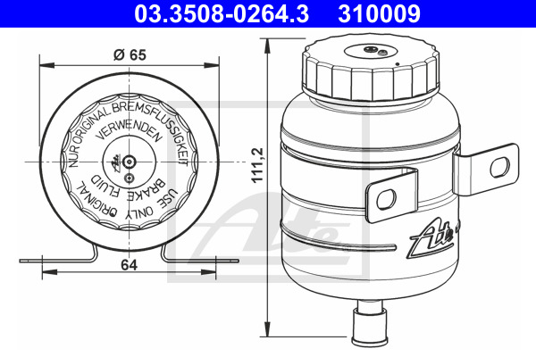 Nestesäiliö, jarruneste ATE 03.3508-0264.3
