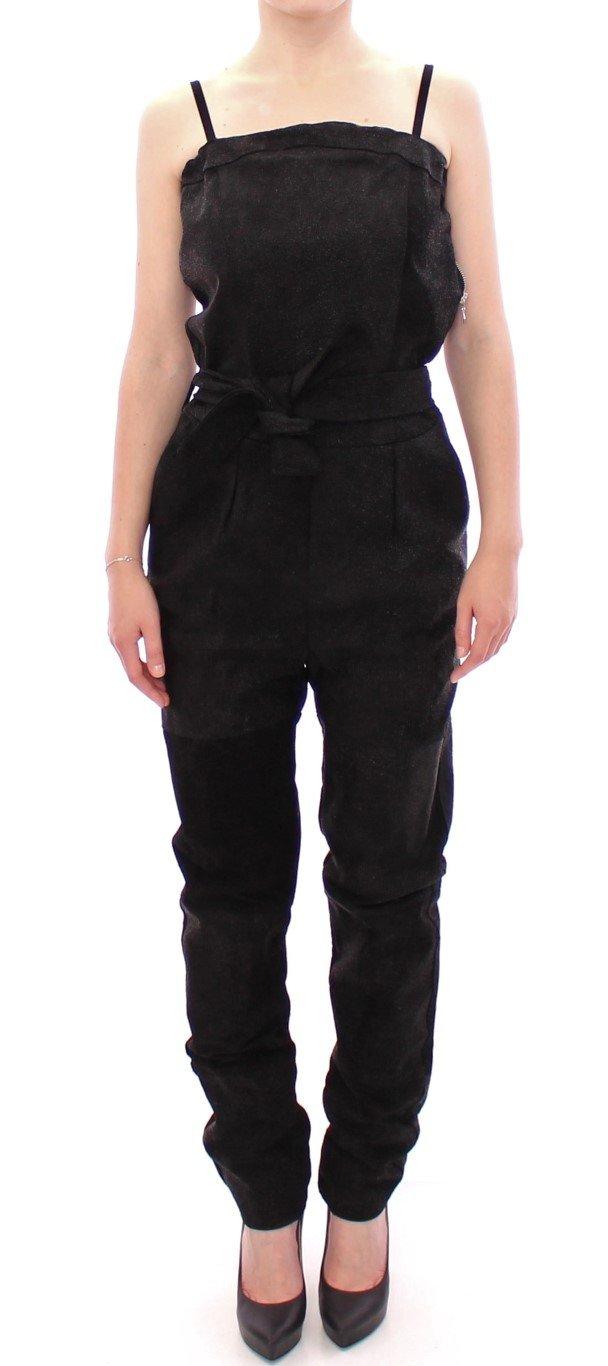 La Maison du Couturier Women's Leather Jumpsuit Black GSS10365 - IT42|M