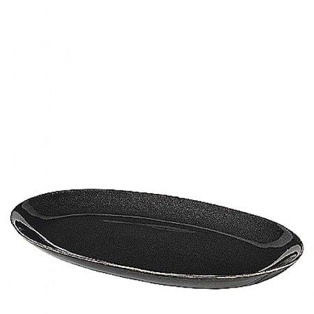 Fat Oval L Nordic Coal Steingods, W17XL30 CM