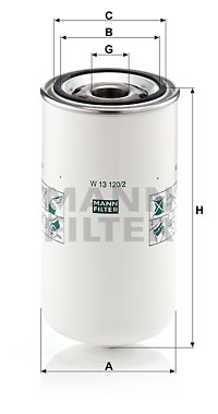Öljynsuodatin MANN-FILTER W 13 120/2