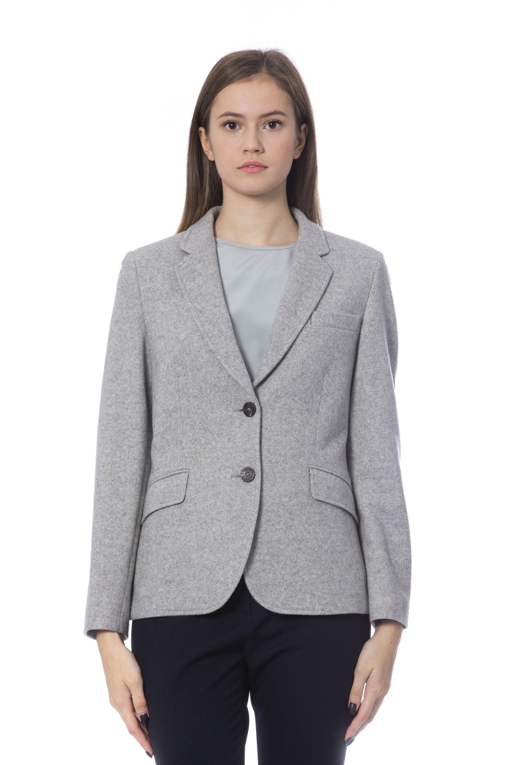 Peserico Women's Jacket Grey PE854540 - IT48 | XL
