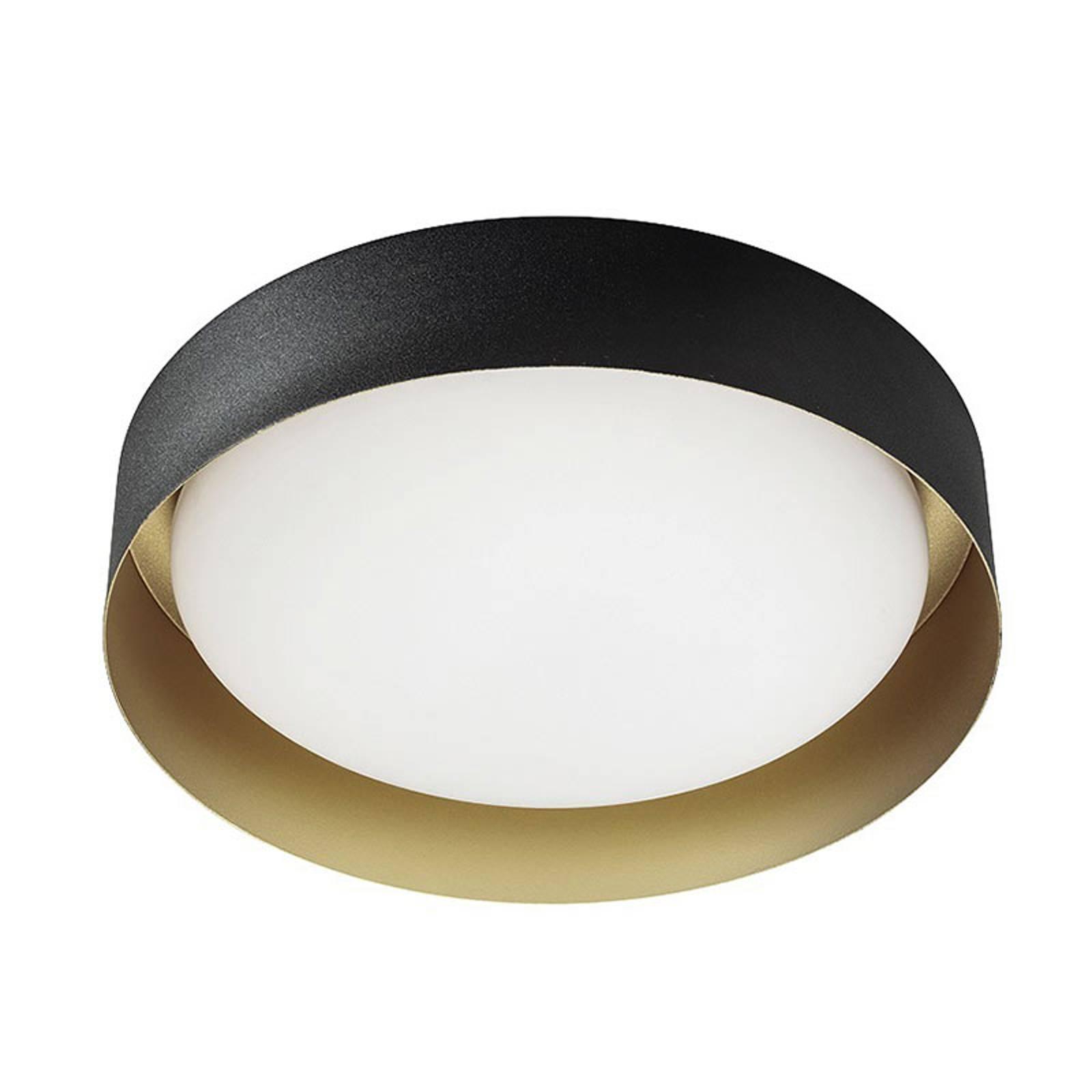 LED-kattovalaisin Crew 2, Ø 33 cm, musta/kulta