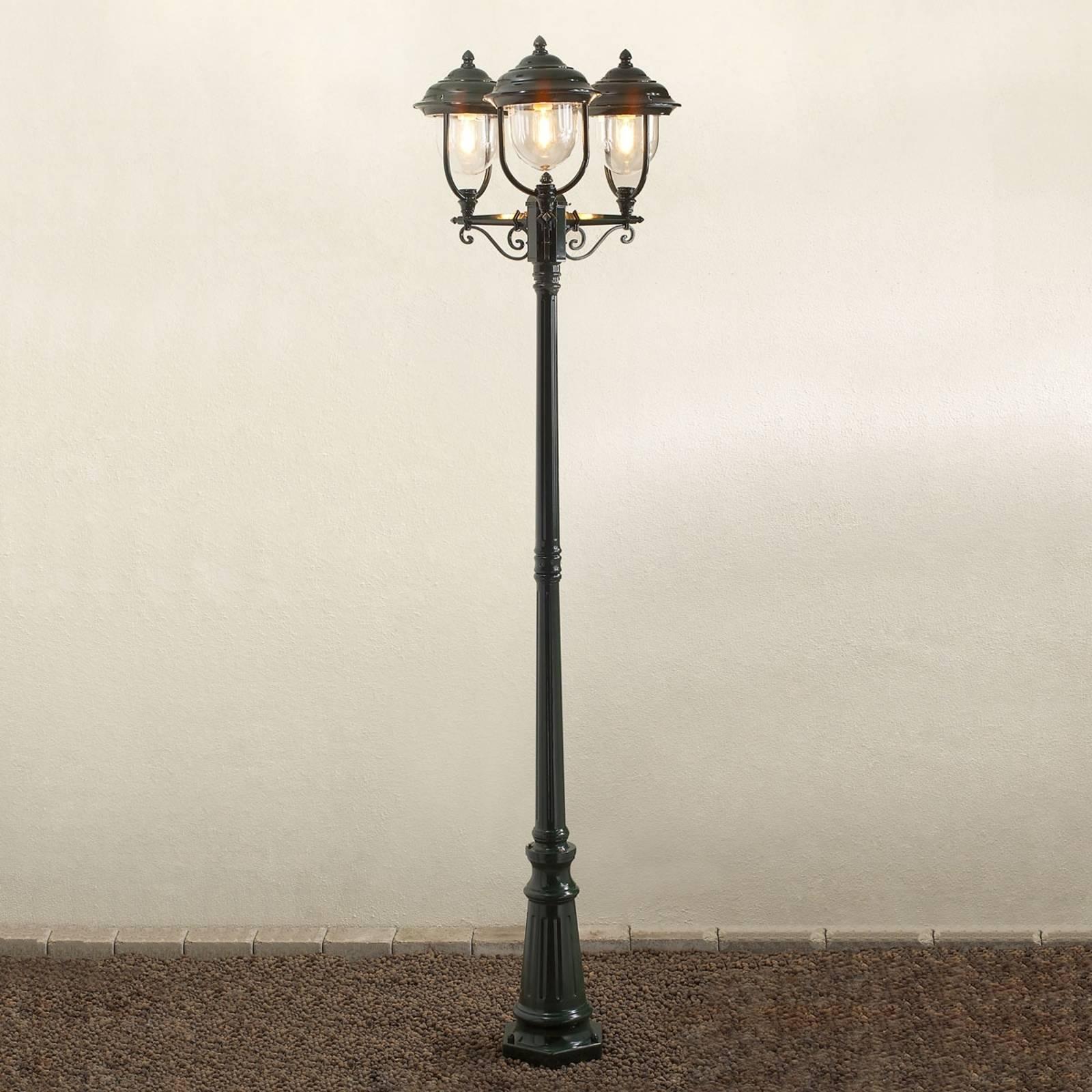 Romanttinen 3-lamppuinen kynttelikkö PARMA vihreä