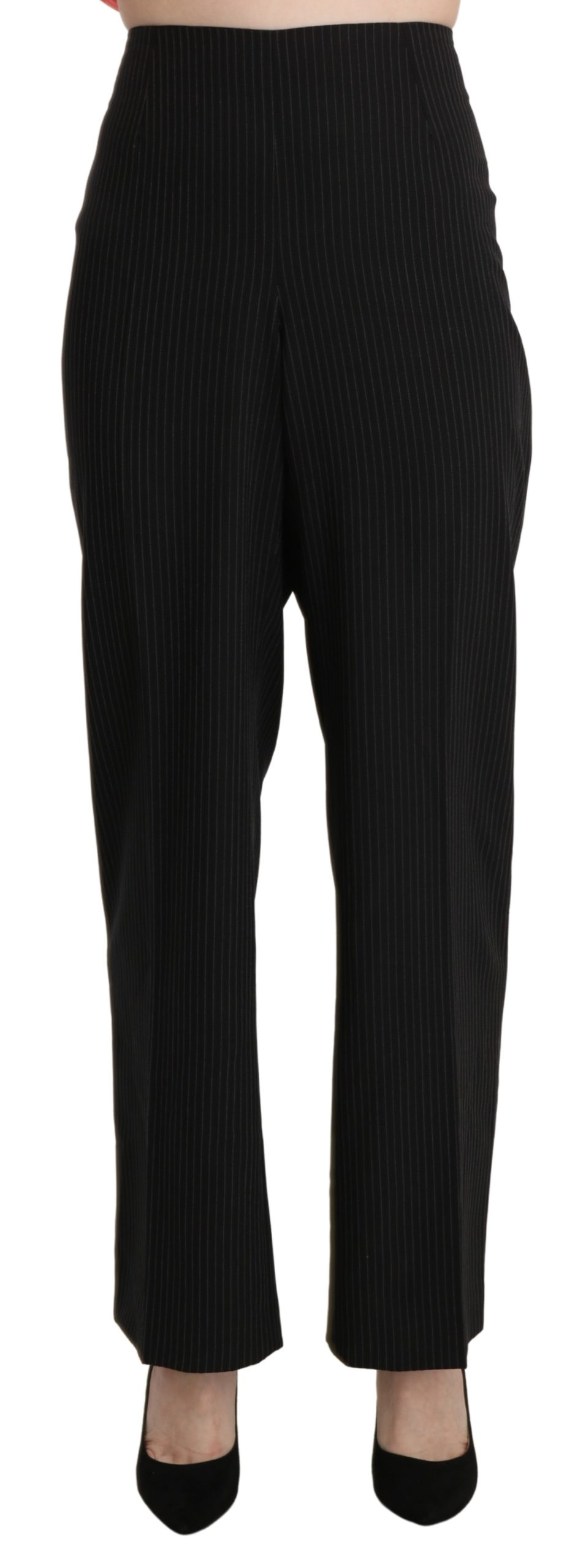 BENCIVENGA Women's High Waist Straight Trouser Black PAN71340-52 - IT52   XL