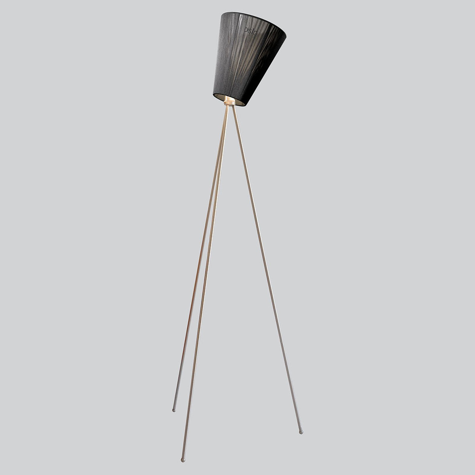 Northern Oslo Wood gulvlampe, stål/svart