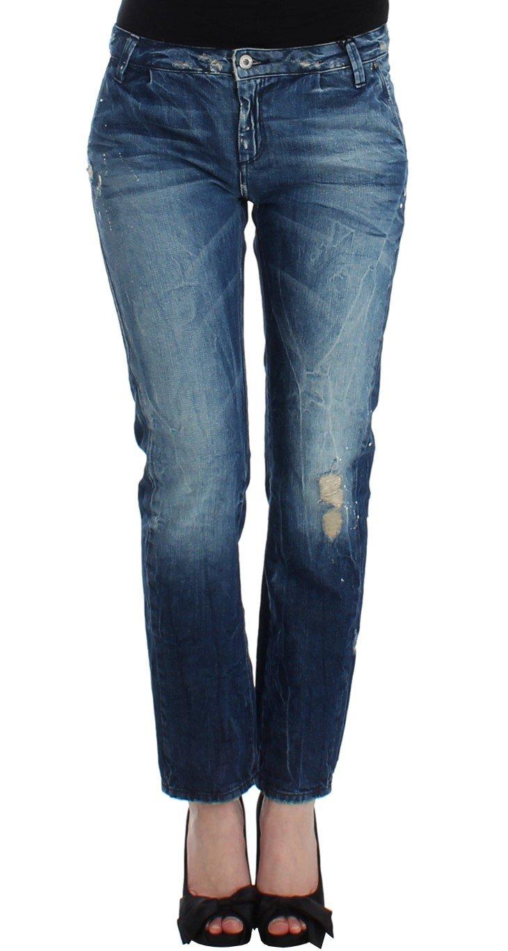 Costume National Women's Distressed Boyfriend Jeans Blue SIG12553 - W26
