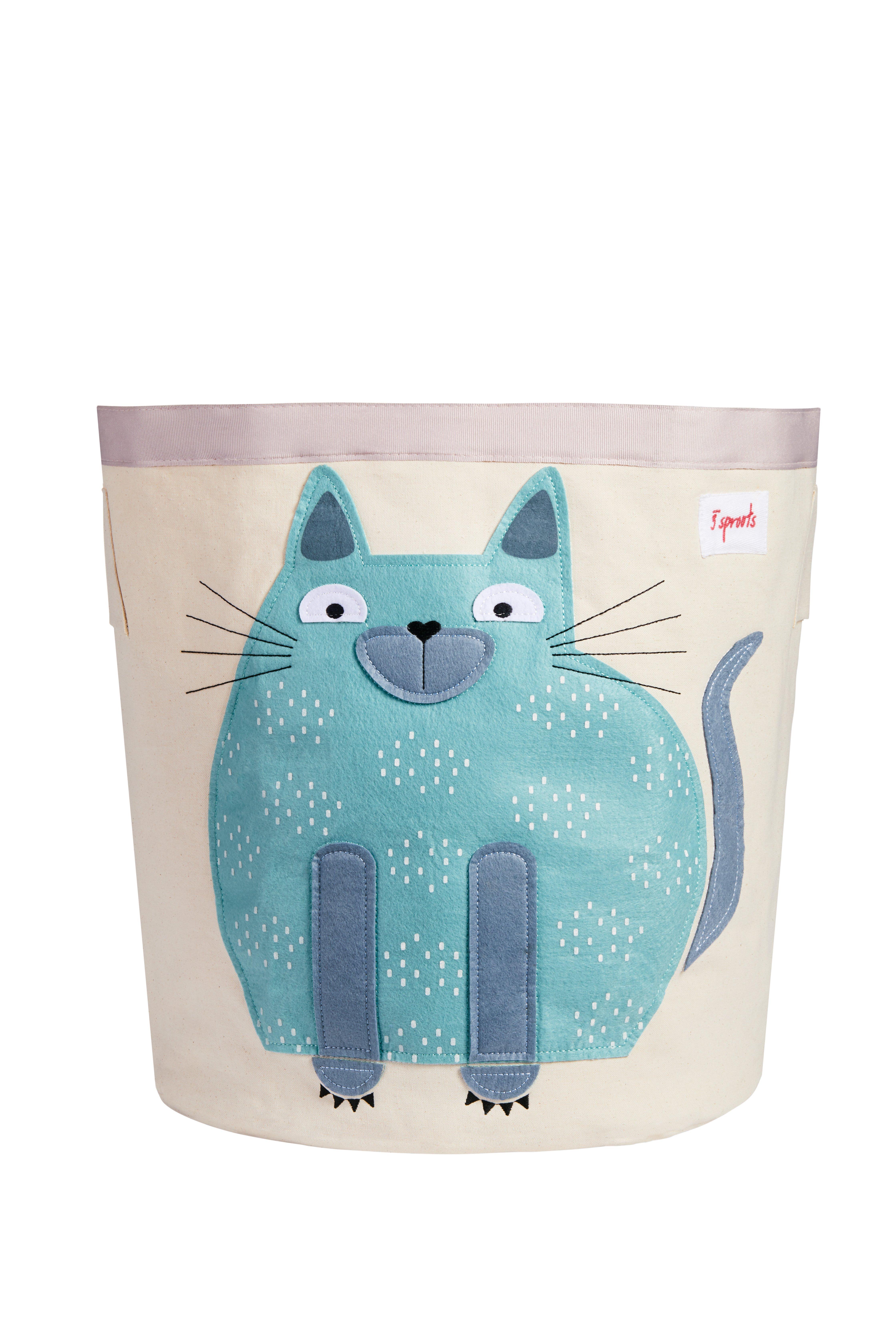 3 Sprouts - Storage Bin - Blue Cat