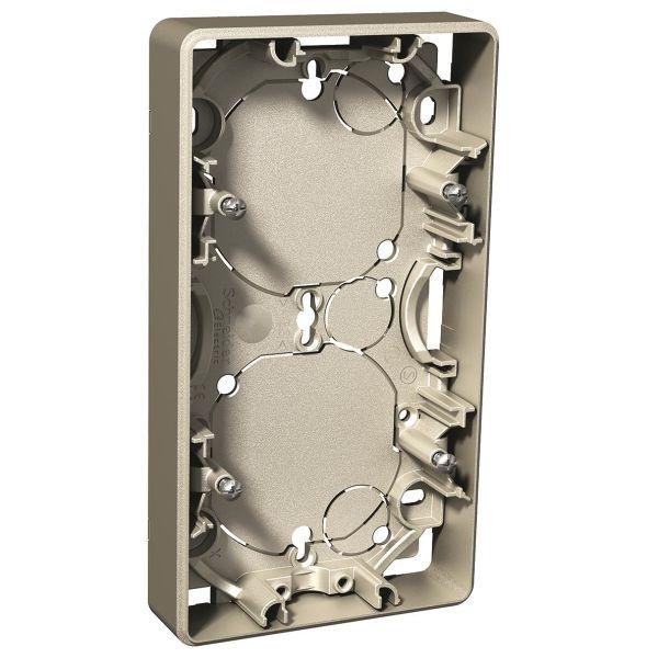 Schneider Electric Exxact Forhøyningsramme Metall, 21 mm 2 rom